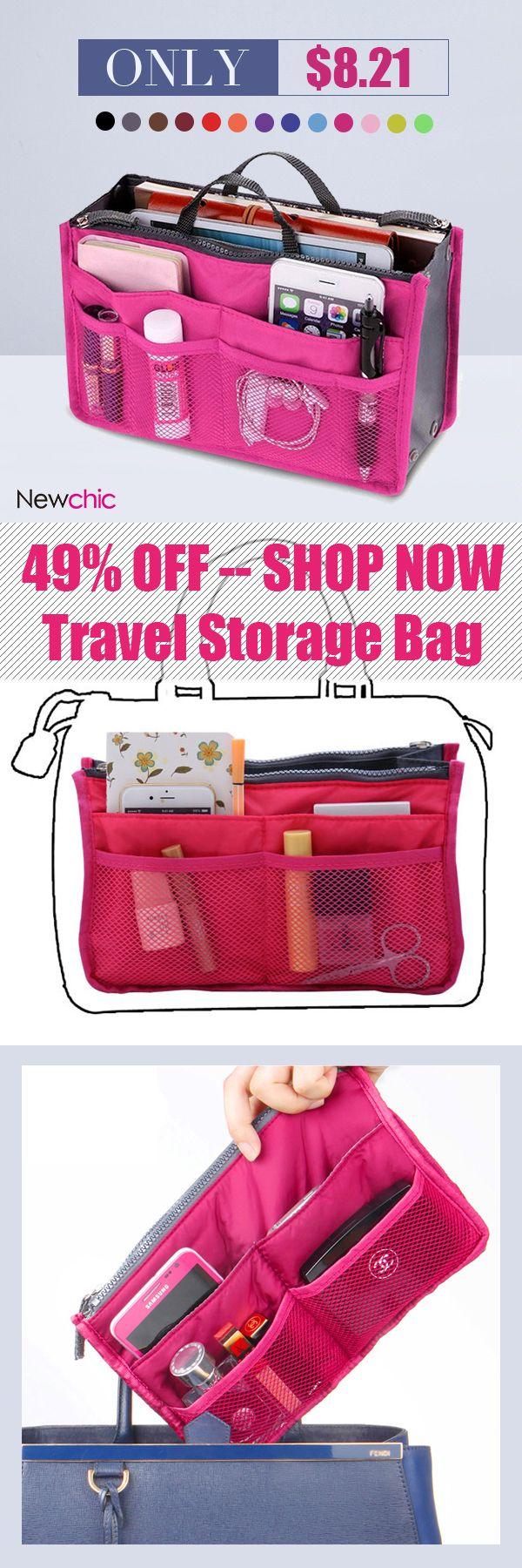 Nylon Multifunction Travel Storage Bag Inside Toiletry Beauty