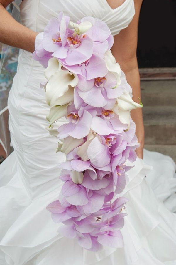 Stunning Cascading Orchids Wedding Bouquet Ideas