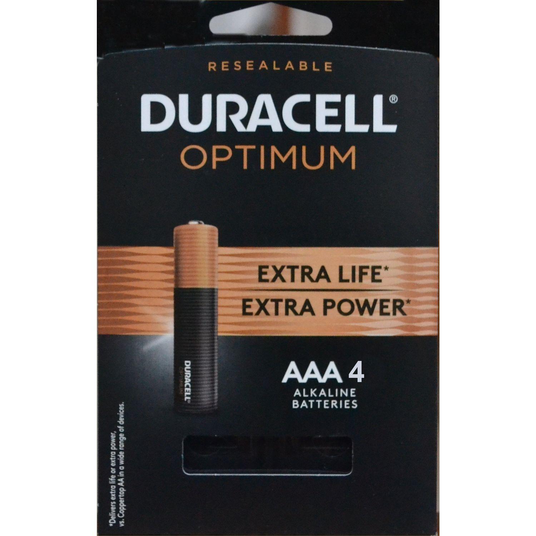 Duracell Optimum Aaa Alkaline Batteries 4 Pk Carded In 2021 Duracell Battery Toothbrush Optima Battery