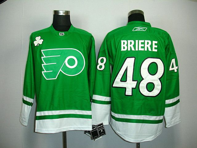 8b90be7b6 Philadelphia Flyers 48 Danny BRIERE St. Patty s Day Jersey. Nhl JerseysNhl Winter  ClassicJewelry ...