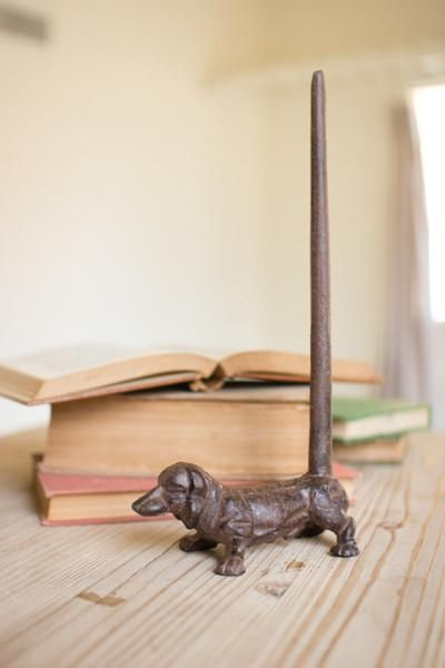 Dachshund Paper Towel Holder Magnificent Kalalou Cast Iron Dachshund Paper Rustic Towel Holder  Set Of 2 Design Decoration