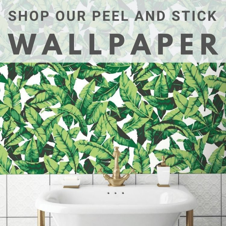 Shop our Peel and Stick Wallpaper Palm leaf wallpaper