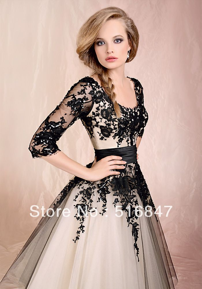 2013 Stock New Beautiful Sleeves Wedding Prom Dresses Bridal Gown/Evening Dresses SZ :6 16 Free Shipping-in Evening Dresses from Apparel & Accessories on Aliexpress.com