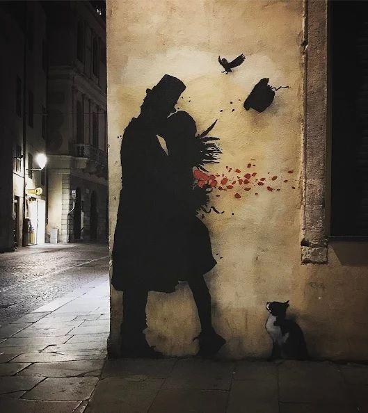 'The Kiss' by Kenny Random in Italy.