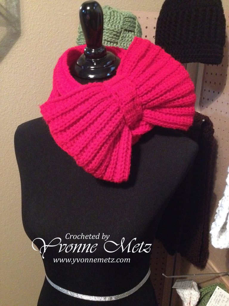 Bow Scarf click the red link on the page | Crochet Scarfs ...