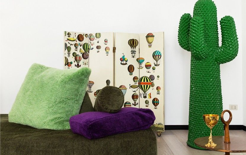 Portemanteau Cactus de Drocco & Mello, paravent de Piero Fornasetti ...