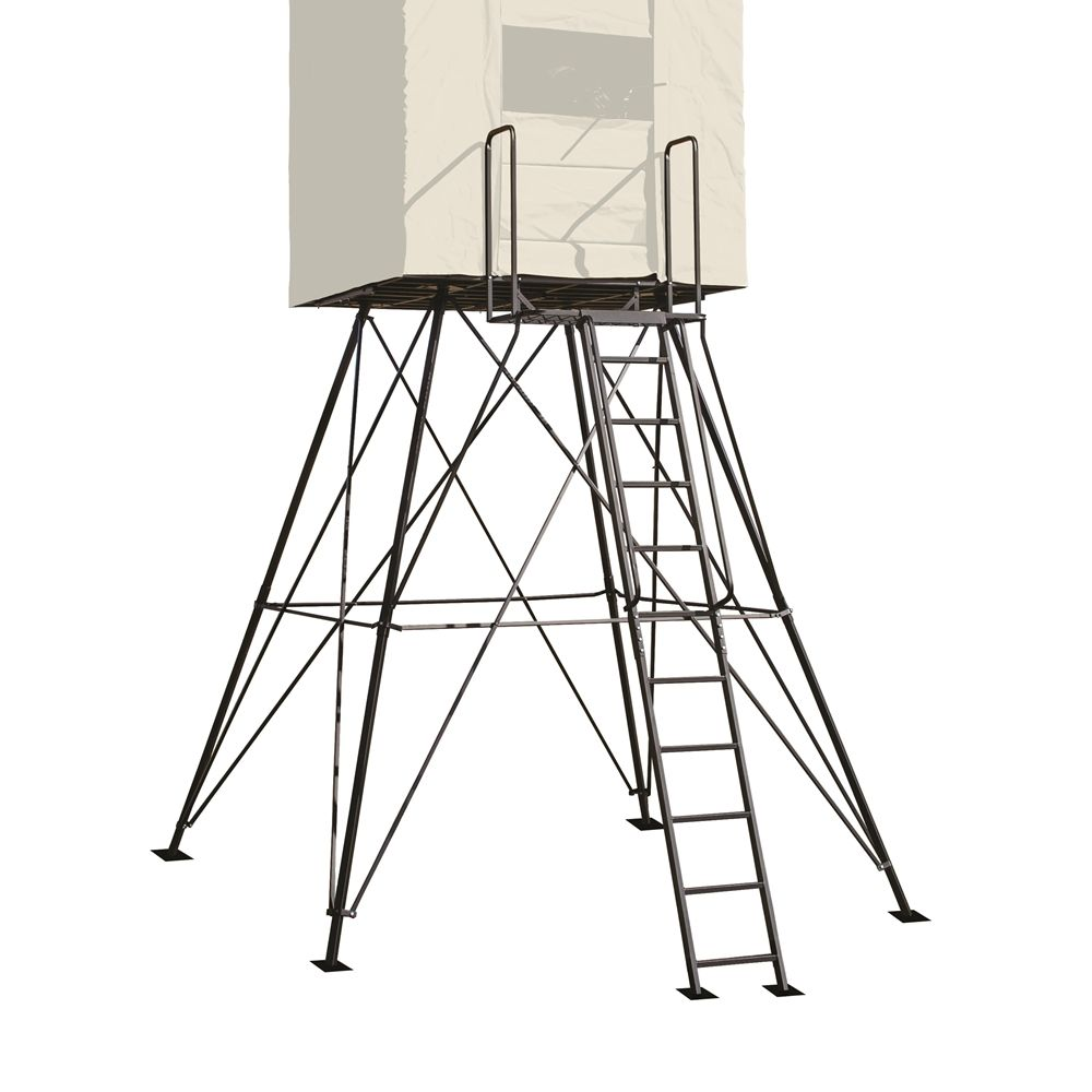 Get Some Height And Better Vantage Points Out Of Your Rivers Edge Landmark Permanent Hunting Blind This Sturdy 10 Hunting Hunting Blinds Deer Hunting Blinds