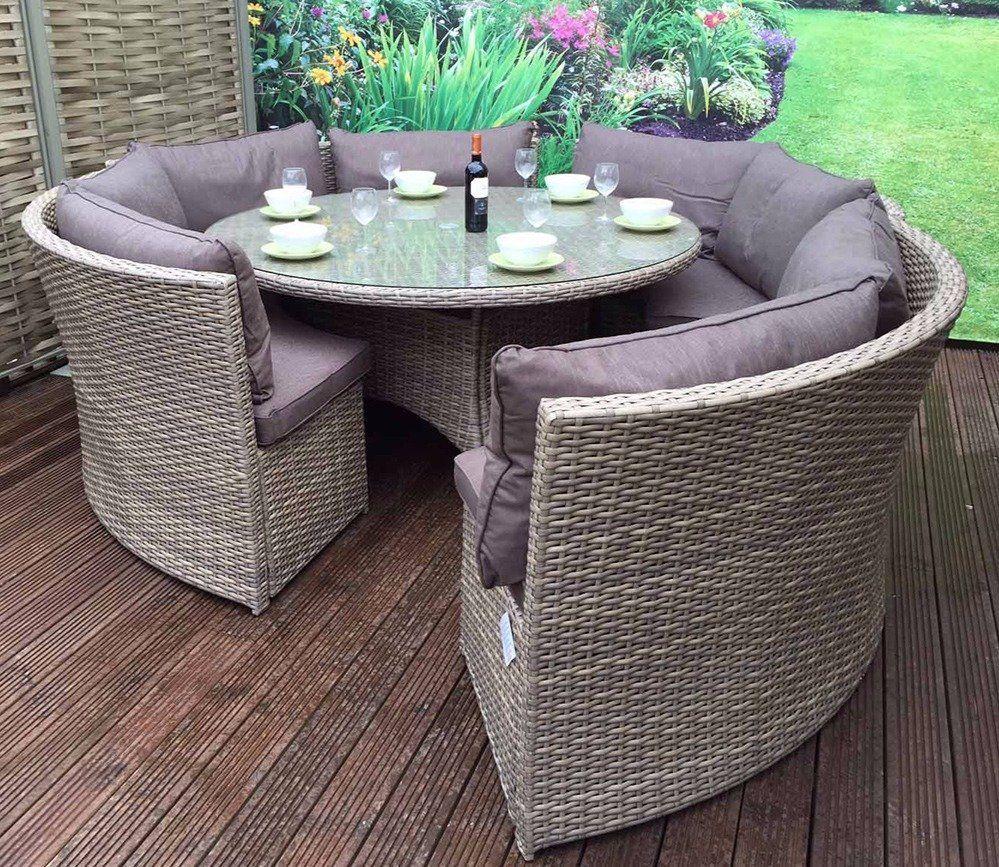 Signature Weave Chloe Dining Set In 2020 Rattan Garden Furniture Sets Corner Sofa Dining Table Garden Furniture Sets
