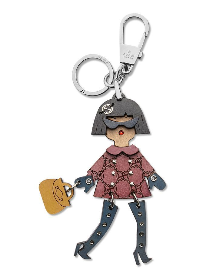 Brunette Lady Key Ring Charm Multi Gucci Gucci