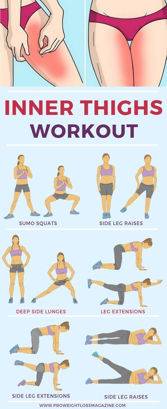 10 Minuten inneres Oberschenkeltraining für zu Hause #home #inner #minutes … - Yoga & Fitness #fitnessexercisesathome
