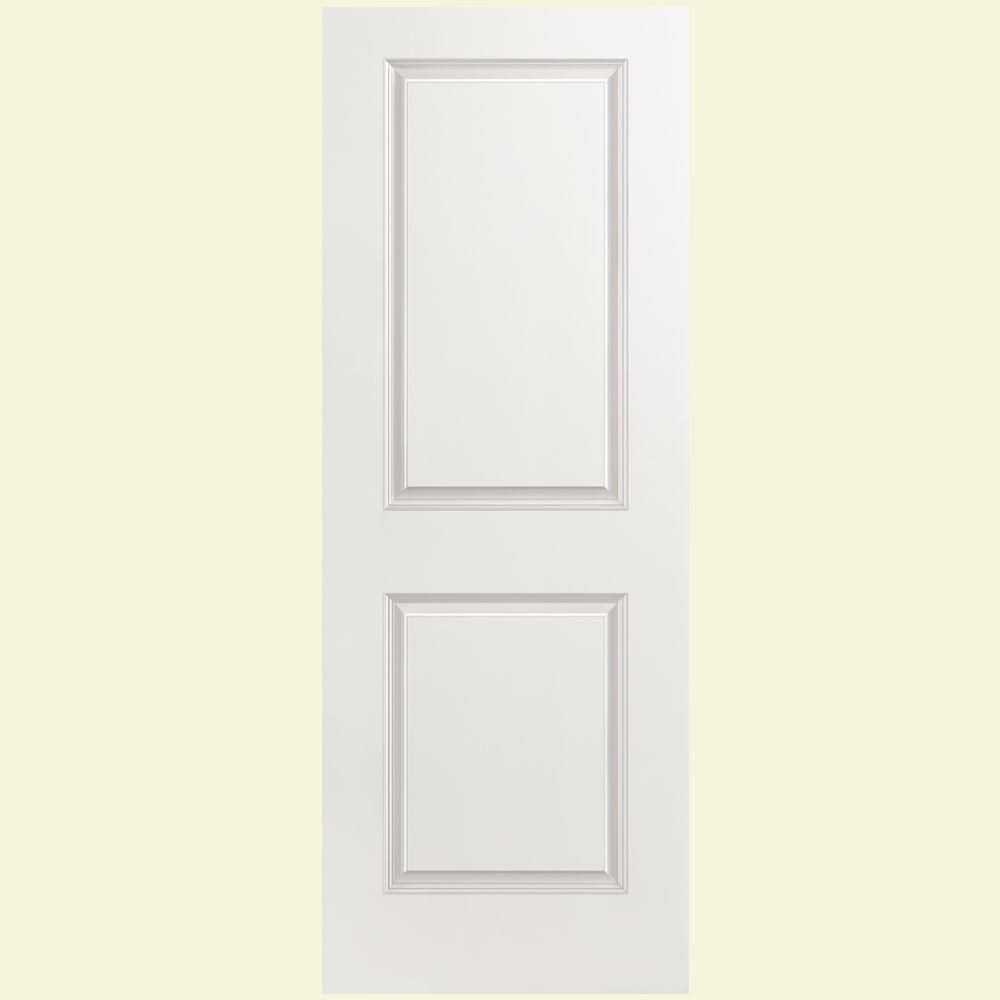 Masonite 28 In X 80 In Solidoor Smooth 2 Panel Solid Core Primed Composite Interior Door Slab 16807 The Home Depot Doors Interior Slab Door Prehung Interior Doors