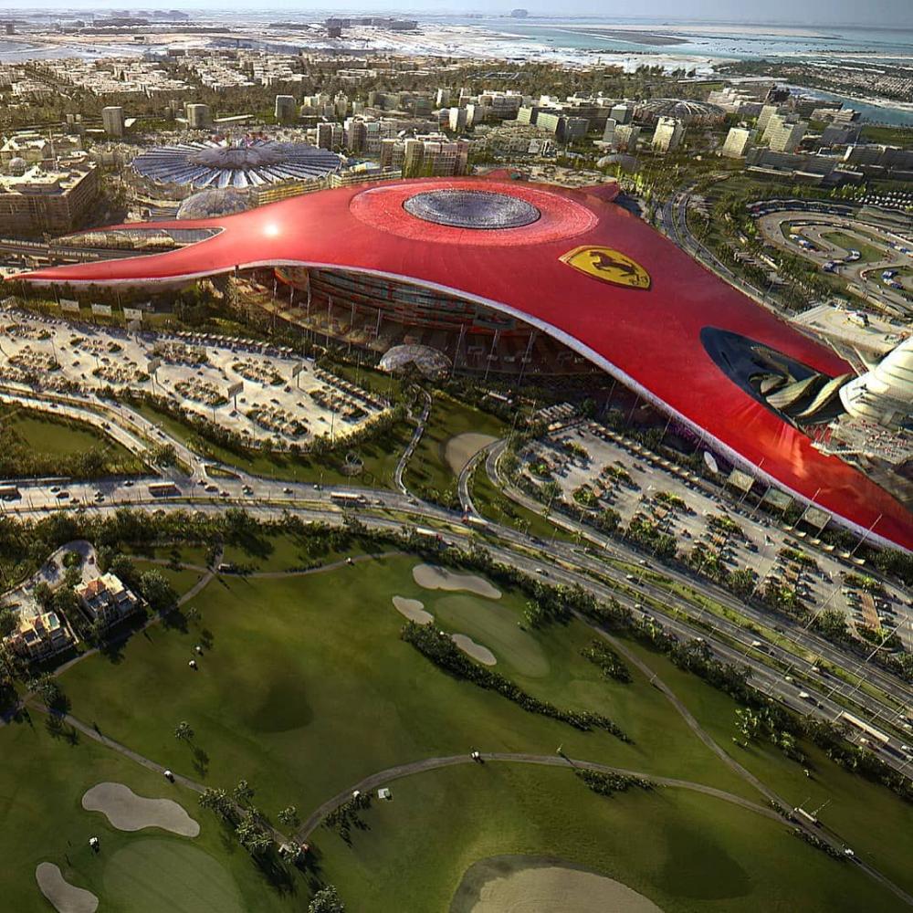 Ferrari Theme Park Google Search Ferrari World Abu Dhabi Parking Design Ferrari World