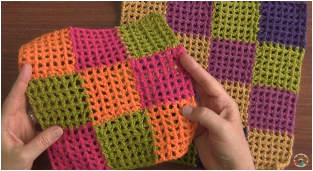 Crochet Entrelac Baby Blanket   Tejido, Adornos y Tela