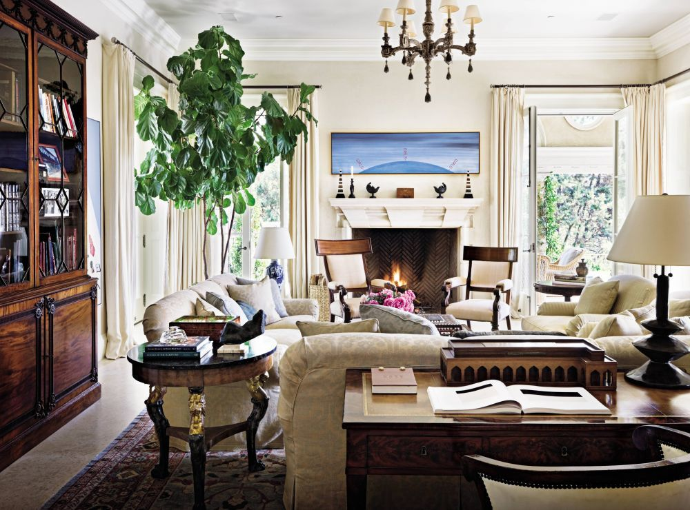 Traditional Living Room By Michael S Smith Inc And Ferguson Amp