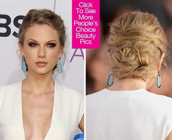Taylor Swift People S Choice Awards Love Her Makeup Updoball Hairmakeup