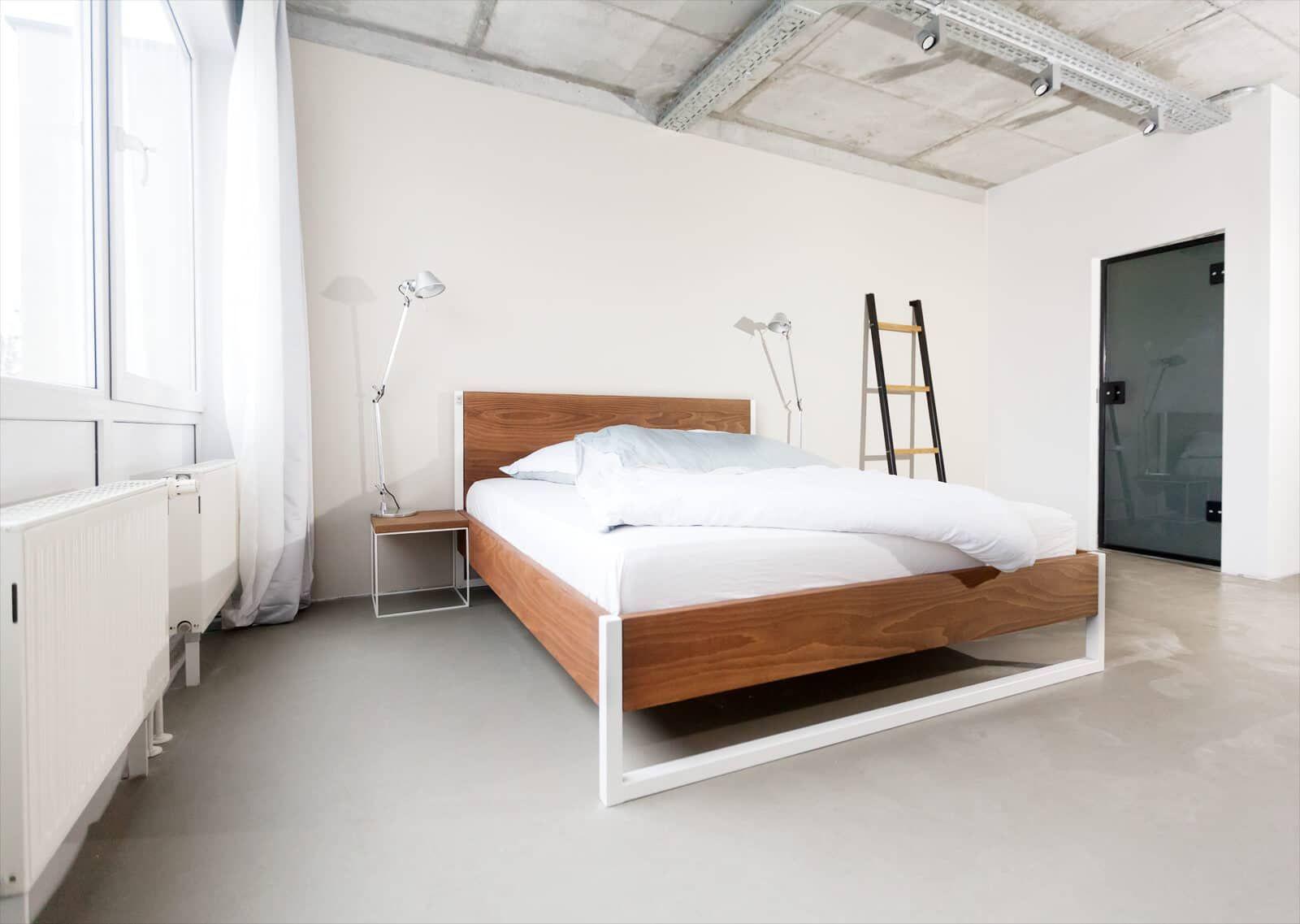 Loft Vintage Industrial Bett Massivholz Und Stahl Nabytek