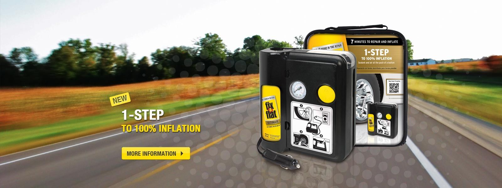 Fixaflat just connect inflate and go tire repair