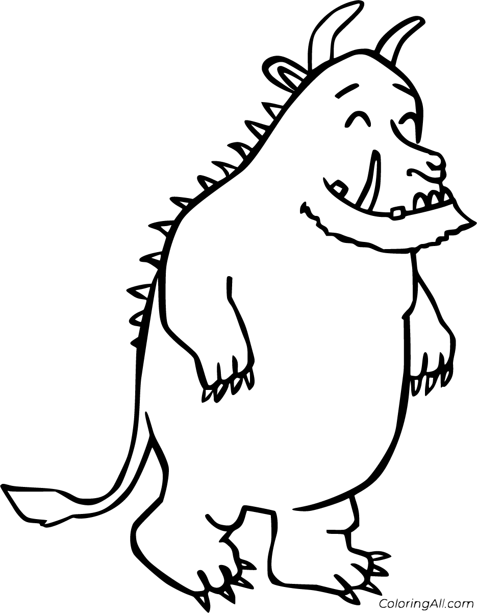 17 free printable Gruffalo coloring pages in vector format