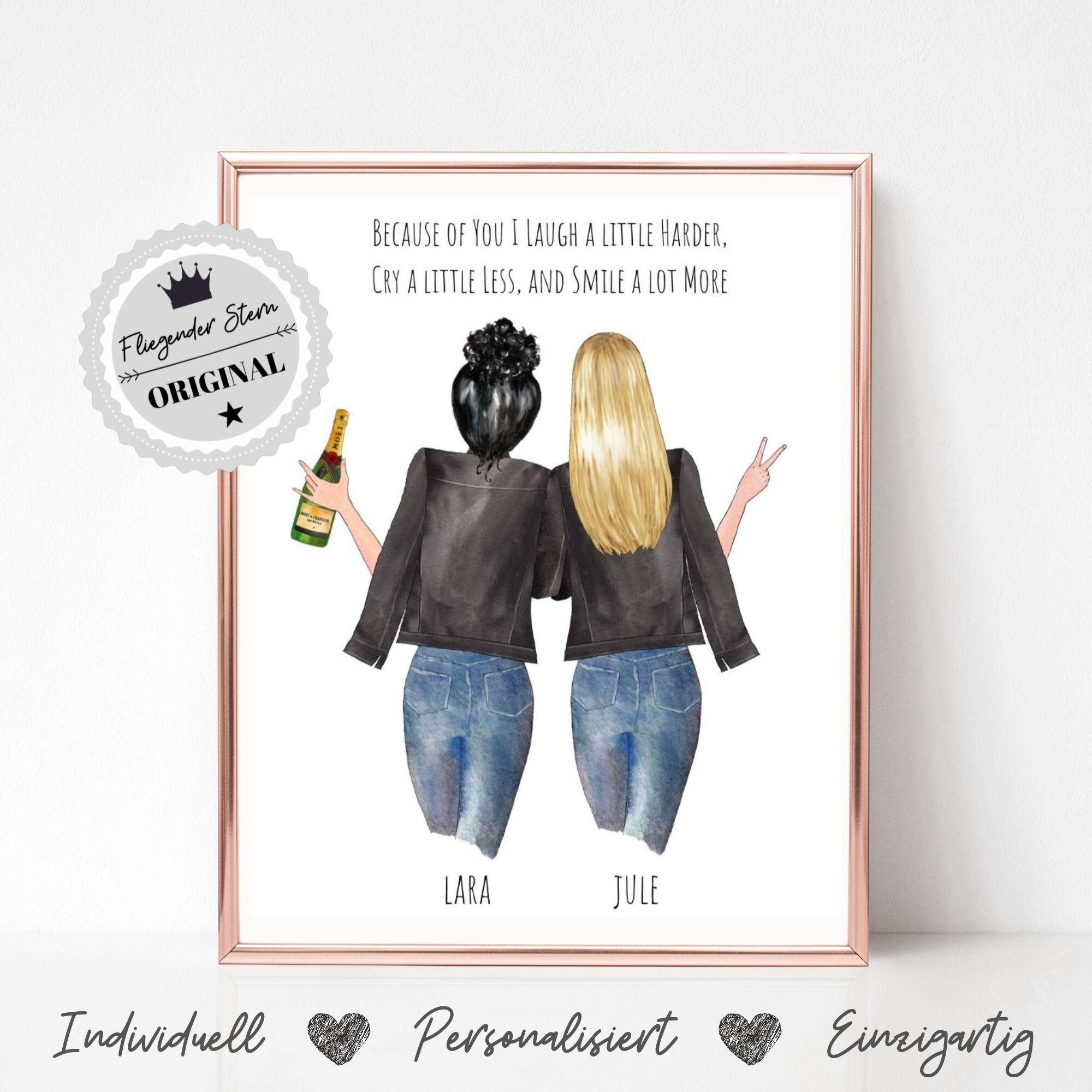 Geschenk beste Freundin | Beste Freundin Geburtstag | Geschenkidee | Freundin Bild | Schwester Geschenkidee | Geschenkideen Freundin Poster #personalisiertegeschenke