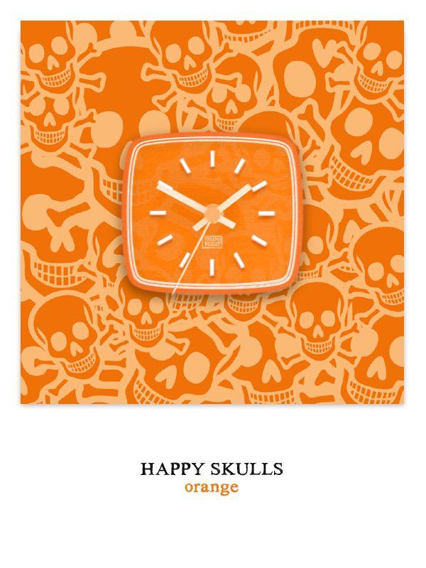 Happy Skulls orange