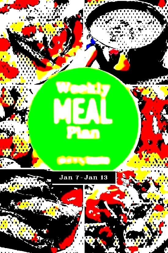 free 7-day flexible weight loss meal plan including breakfast, lunch and dinner and a shopping liA