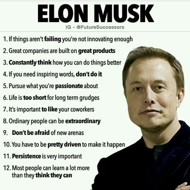 Elon Musk General Knowledge Gk Great Thoughts Ideas Informations Quotes Business Quotes Inspirational Quotes Motivation