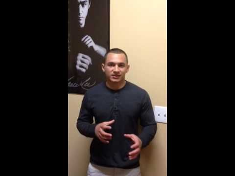 My friend and client Aaron Martinez, a 21 year old MMA fighter and his video testimonial.