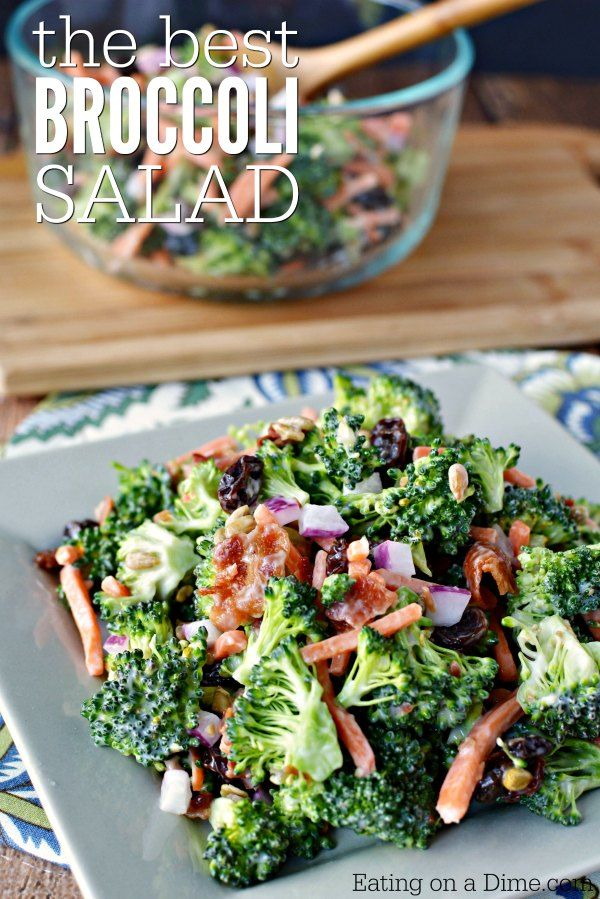 Creamy Broccoli Salad Recipe Eating On A Dime Salad Broccoli