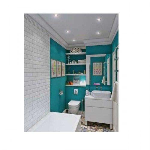 15 petites salles de bains pleines d'idées déco | turquoise ... - Meuble Salle De Bain Bleu Turquoise