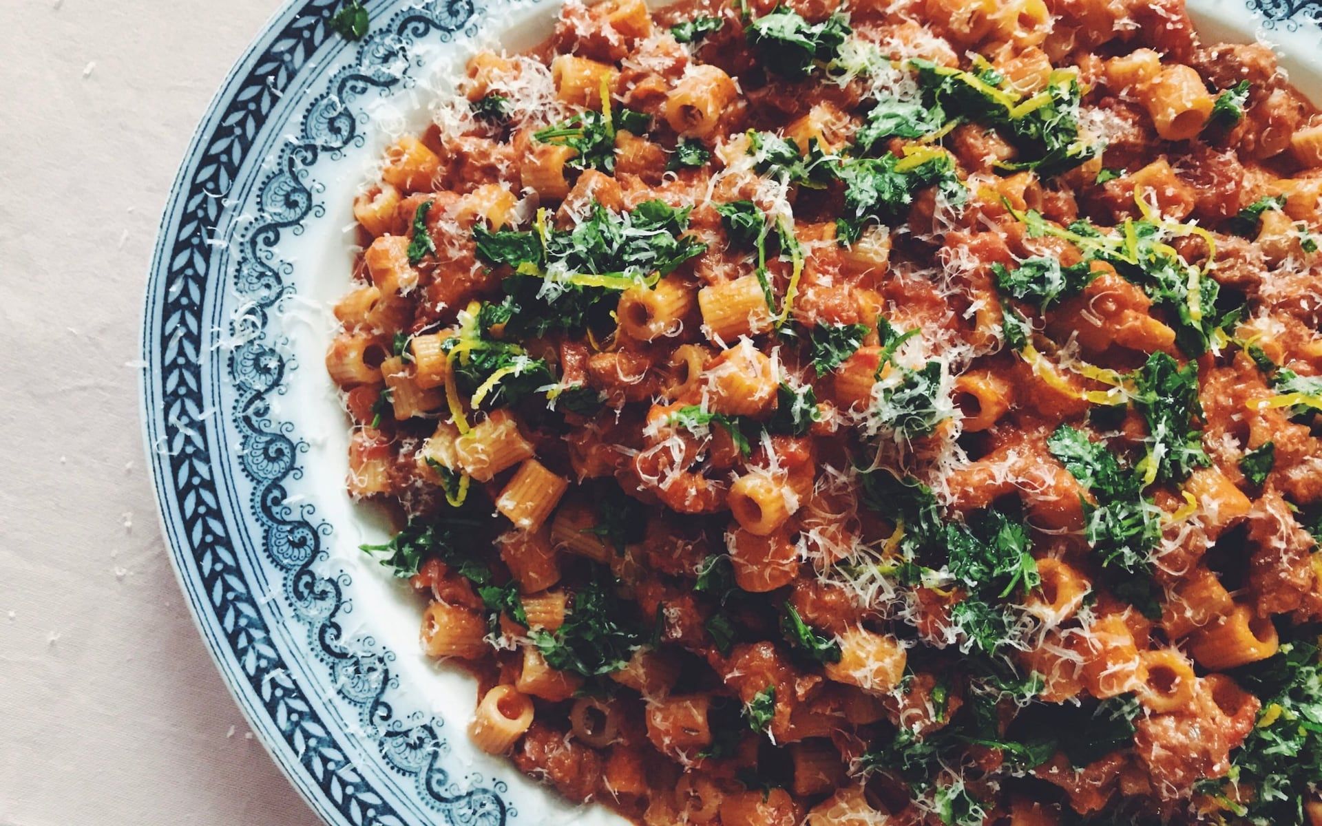Friday night dinner: Pasta with sausage and fennel ragout and gremolata #fridaynightdinner Friday night dinner: Pasta with sausage and fennel ragout and gremolata #fridaynightdinner