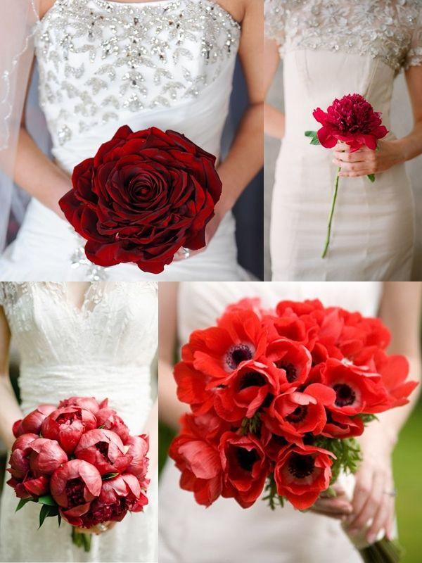 Wedding Philippines - Red Single Bloom Flower Bouquet Ideas ...