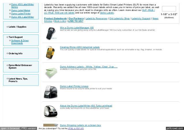 DYMO LabelWriter 4XL Label Printer | Dymo Label | Label
