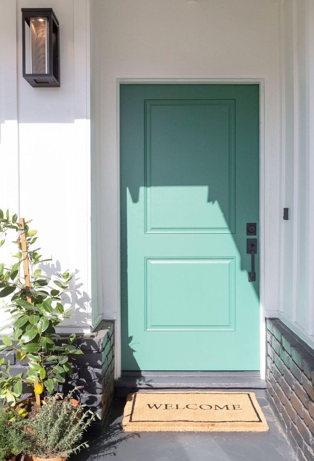 One Of My Favorite Exterior Features Of This House Was The Door Hiddenpotential Hgtv Front Door Colors Green Front Doors Door Color