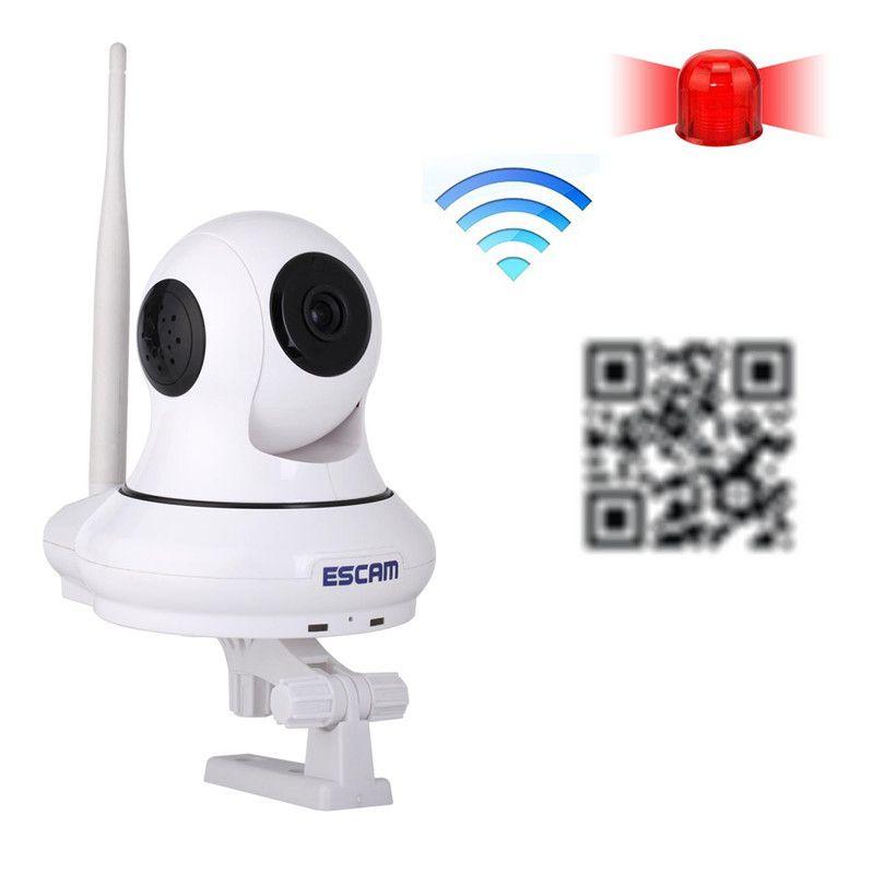 $365.59 (Buy here: http://appdeal.ru/d5zj ) 5PCS ESCAM Patron QF500 WiFi IR-Dome IP Camera HD 720P 1.0MP Pan/Tilt H.264 P2P Dual IR-CUT Filter Alarm System 3.6mm Wireless for just $365.59