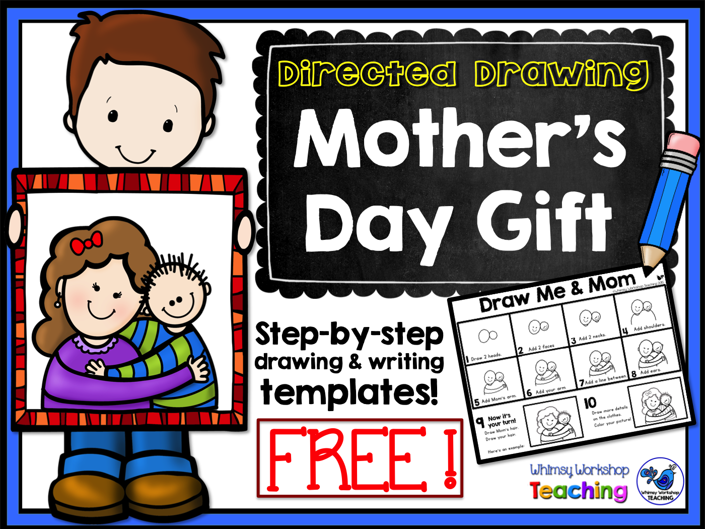 Father S Day Directed Drawing Freebie