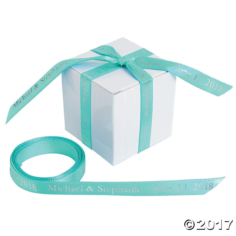 Mint Green Personalized Ribbon - 3/8 - OrientalTrading.com