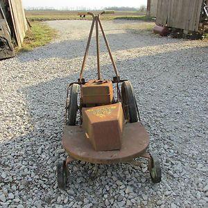 Yazoo Old Antique Vintage Gas Lawnmower Push Mower Deck Ebay