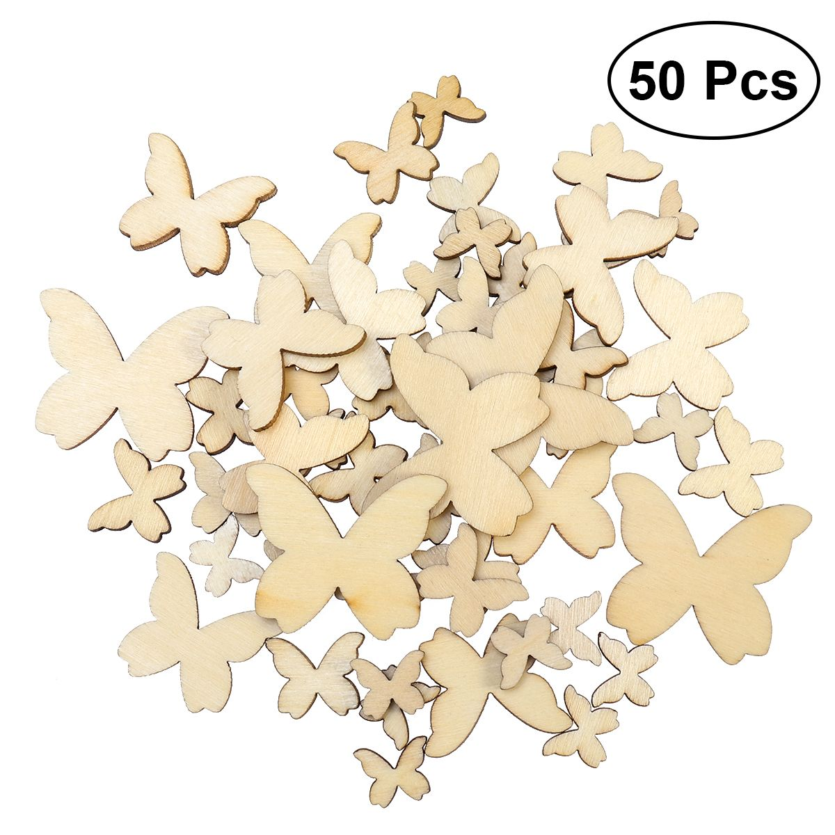 Wooden MDF Feather  Shapes Bunting Craft Embellishments Decorations Scrapbook