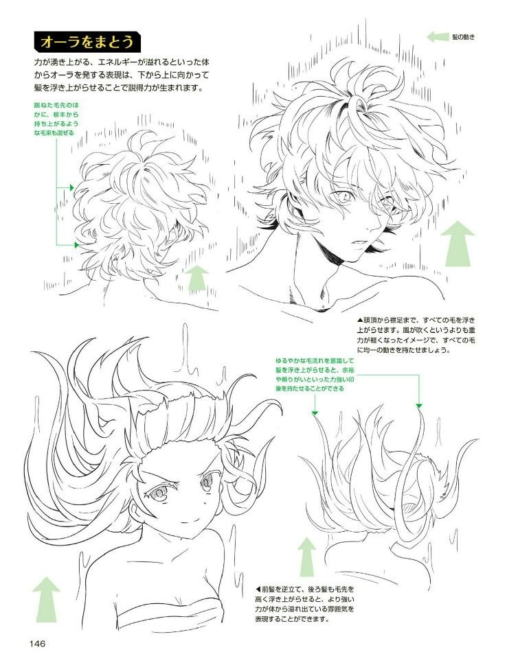 Floating Hair Wind Water Anime Drawings Tutorials How To Draw Hair Drawings