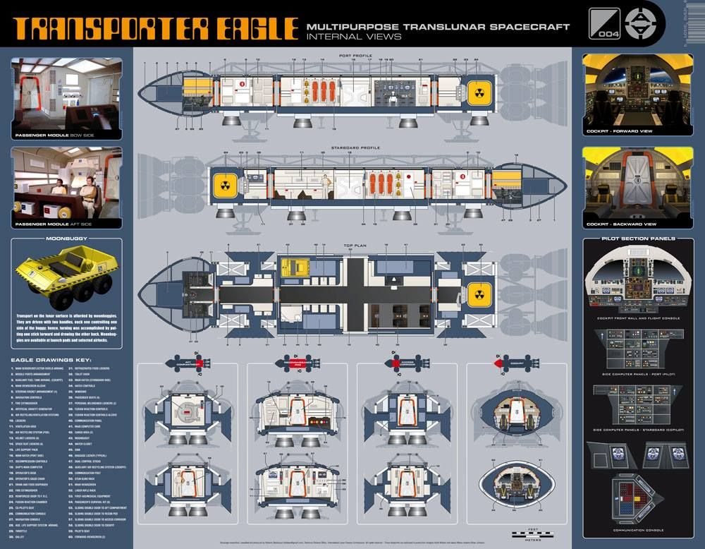 space1999 mondbasis alpha 1 eagle transporter spaceship. Black Bedroom Furniture Sets. Home Design Ideas