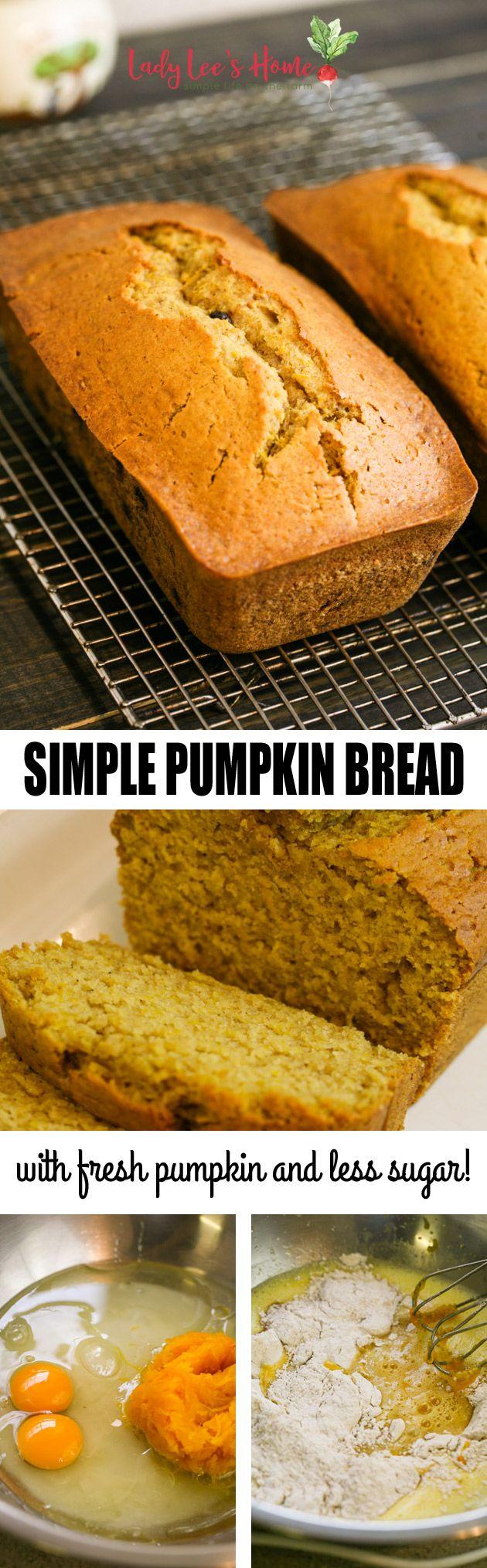 Easy Pumpkin Bread Recipe Pumpkin bread, Pumpkin