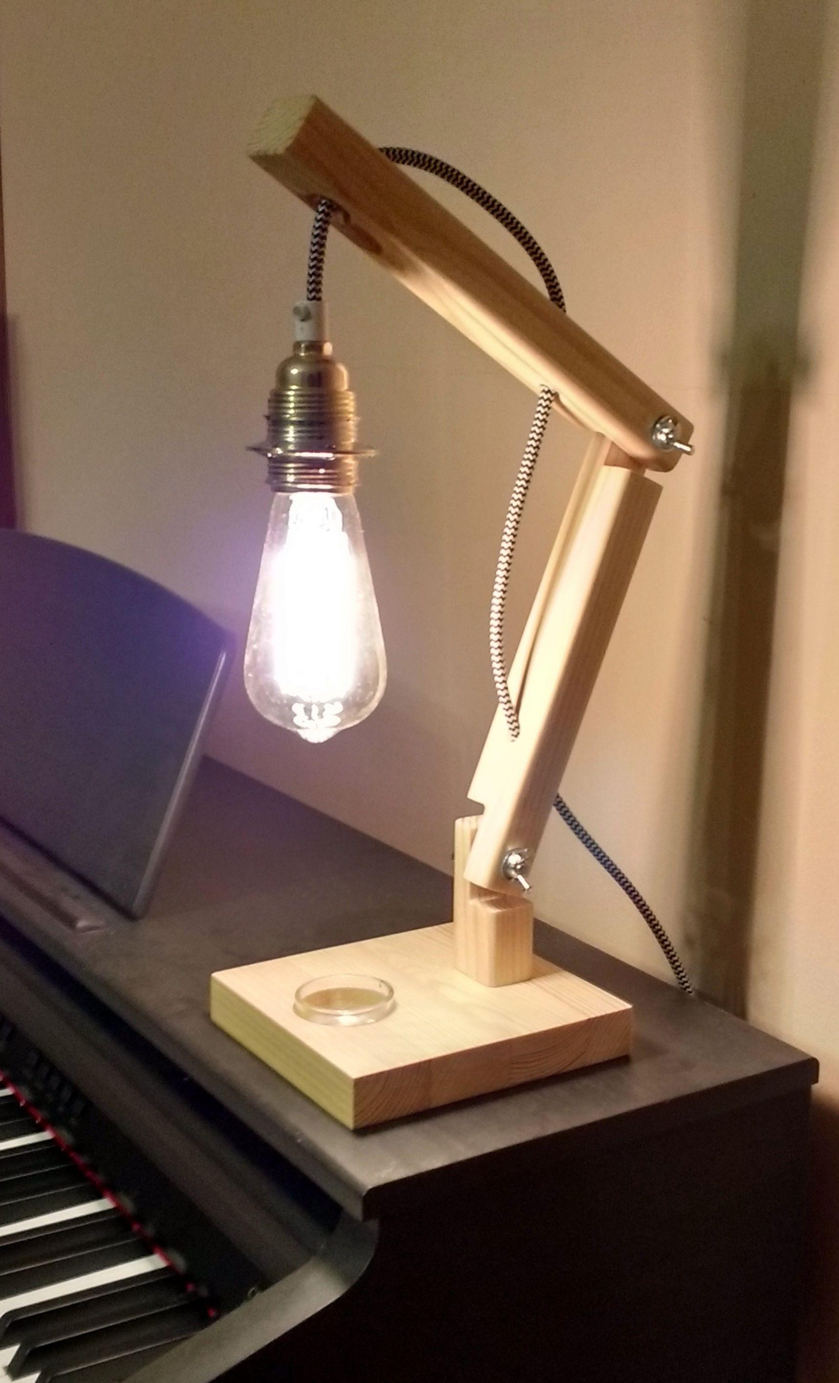 Lighting Crane Wood Lamp Luminaria De Madeira Luminaria Criativas Luminaria De Mesa