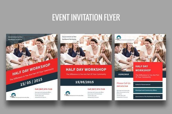 Event Invitation Flyer  Flyer Template And Graphic Design Inspiration