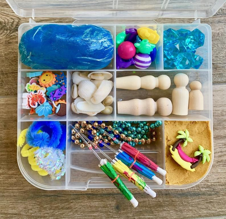 Beach Days Deluxe Play Dough And Magic Sand Sensory Kit In 2020 Playdough Kits Magic Sand Playdough