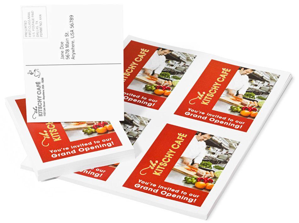 Custom Postcard Printing Services Fedex Office Postcard Printing Custom Postcards Digital Printer