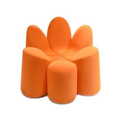 Roche Bobois Fauteuil Roche Bobois Mayflower Orange