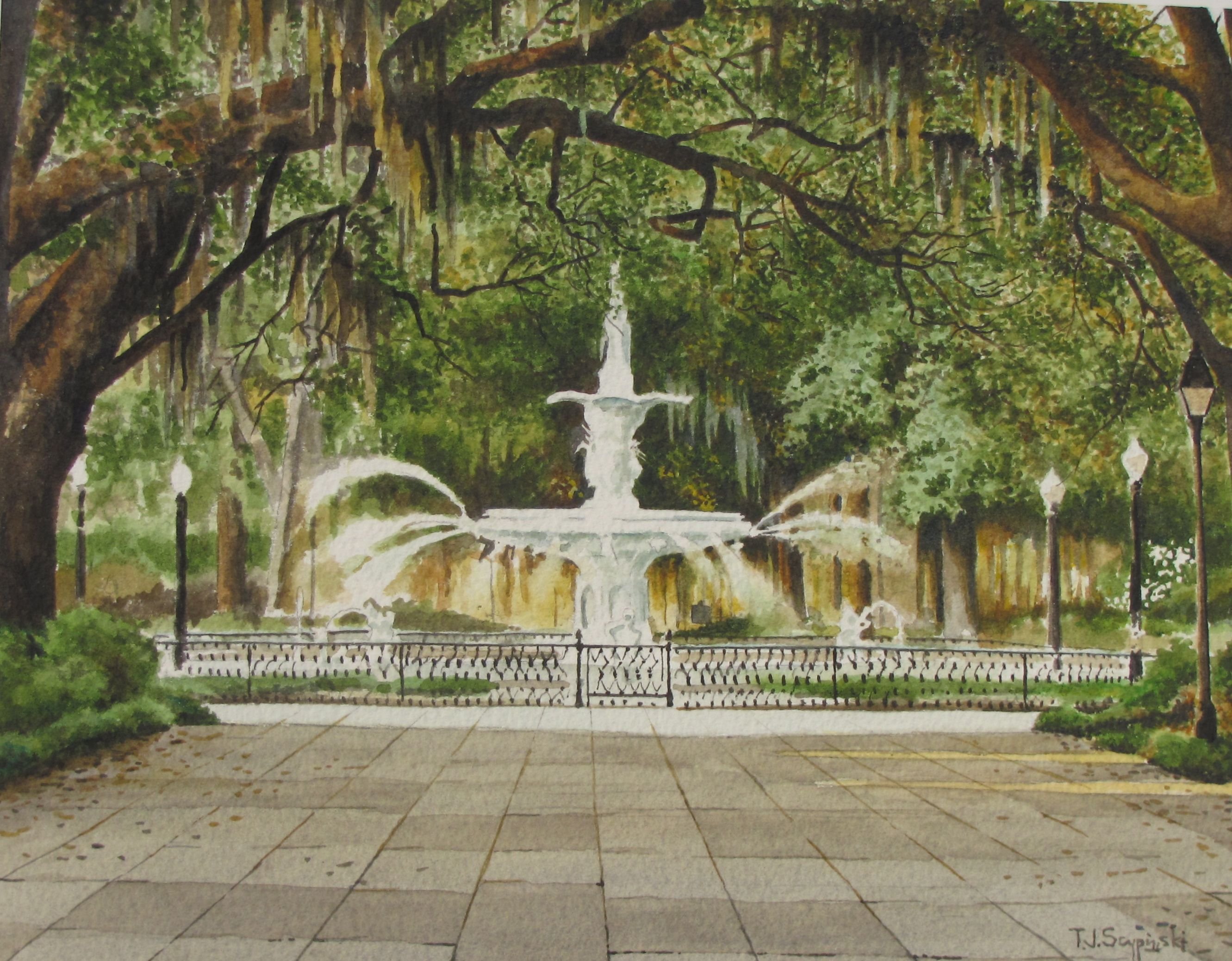 Forsyth Park Painting