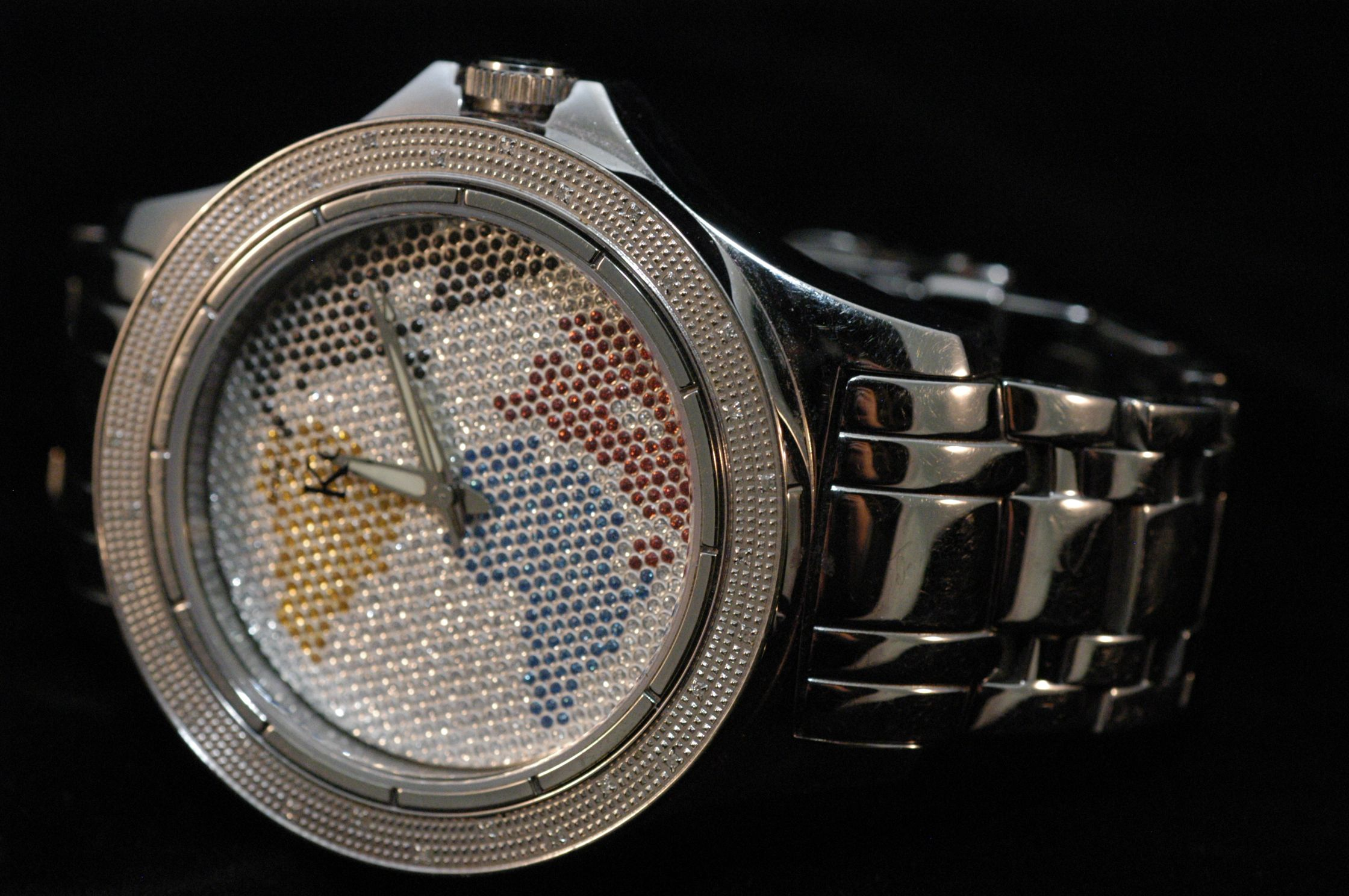 by KC Men's Hip Hop Watch. Floating world map