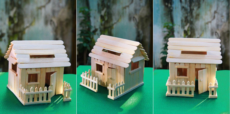 popsicle sticks house | my photos - diy & crafts | popsicle
