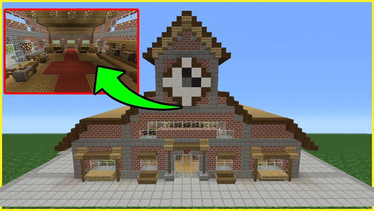 Minecraft Tutorial How To Make A Train Station Inside Outside